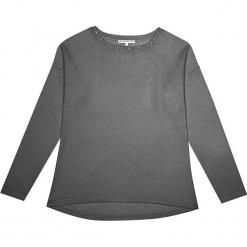Sweter kaszmirowy w kolorze szarym. Szare swetry klasyczne damskie marki Ateliers de la Maille, z kaszmiru, z okrągłym kołnierzem. W wyprzedaży za 454,95 zł.