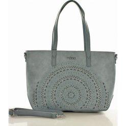 Shopper bag damskie: Miejska torebka shopper bag niebieska ALAINA