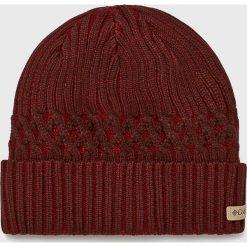Columbia - Czapka. Brązowe czapki zimowe męskie Columbia, z dzianiny. W wyprzedaży za 99,90 zł.