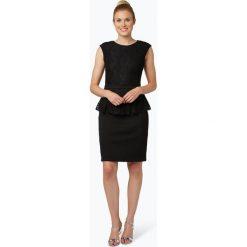 Adrianna Papell - Damska sukienka koktajlowa, czarny. Czarne sukienki koktajlowe Adrianna Papell, w koronkowe wzory, z koronki, baskinki. Za 499,95 zł.