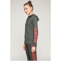 Adidas Performance - Bluza. Szare bluzy z kapturem damskie adidas Performance, l, z nadrukiem, z bawełny. W wyprzedaży za 159,90 zł.