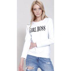 Bluzy damskie: Biało-Czarna Bluza Girl Rule