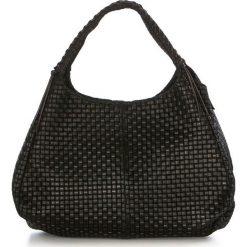 Torebki klasyczne damskie: Skórzana torebka w kolorze czarnym – 43 x 20 x 38 cm