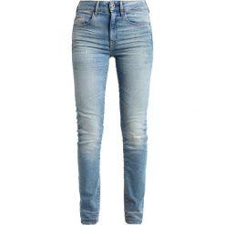 GStar 3301 HIGH SKINNY Jeans Skinny Fit lyse stretch denim. Niebieskie jeansy damskie G-Star, z bawełny. W wyprzedaży za 375,20 zł.