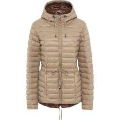 Lekka kurtka parka pikowana bonprix beżowo-brązowy. Brązowe kurtki damskie pikowane marki bonprix. Za 109,99 zł.