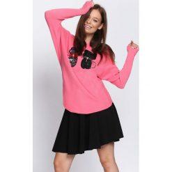 Różowy Sweter See Us. Czerwone swetry klasyczne damskie Born2be, l. Za 69,99 zł.