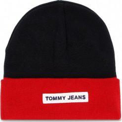 Czapka TOMMY JEANS - Tju Logo Beanie AU0AU00193  901. Niebieskie czapki zimowe damskie marki Tommy Jeans, z bawełny. Za 179,00 zł.