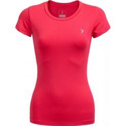 Koszulka treningowa damska TSDF600 - różowy - Outhorn. Czerwone bluzki z odkrytymi ramionami Outhorn, na lato, z materiału. W wyprzedaży za 29,99 zł.