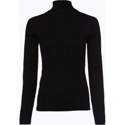 HUGO - Damska koszulka z długim rękawem – Ninelli, czarny. Czarne t-shirty damskie HUGO, s, z dżerseju, ze stójką. Za 349,95 zł.