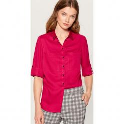 Koszula z podwijanymi mankietami - Czerwony. Czerwone koszule damskie Mohito. Za 99,99 zł.