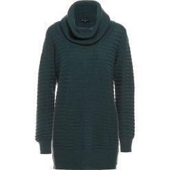 Golfy damskie: Sweter w kolorze ciemnozielonym