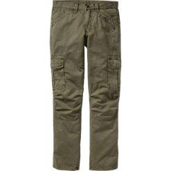 Spodnie bojówki Loose Fit Straight bonprix zielony khaki. Zielone bojówki męskie bonprix. Za 149,99 zł.