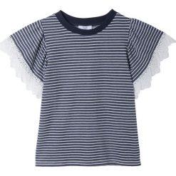 Koszulka w paski z koronką SUZY. Czarne bluzki koronkowe marki bonprix. Za 348,56 zł.