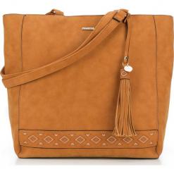 Torebka damska 87-4Y-700-5. Czarne shopper bag damskie Wittchen, z aplikacjami, na ramię, zdobione. Za 129,00 zł.