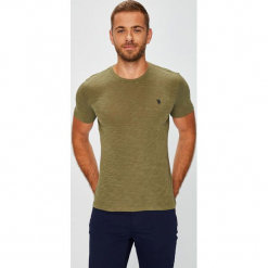 U.S. Polo - T-shirt. Szare koszulki polo marki U.S. Polo, l, z bawełny. W wyprzedaży za 159,90 zł.