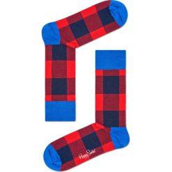 Happy Socks - Skarpety Lumberjack. Czerwone skarpetki męskie Happy Socks, z bawełny. Za 39,90 zł.