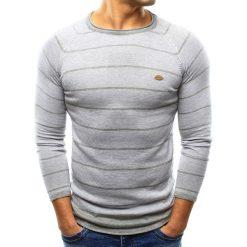 Swetry klasyczne męskie: Sweter męski szary (wx0808)