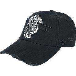 Sons Of Anarchy Reaper Logo Czapka baseballowa czarny. Czarne czapki z daszkiem damskie Sons Of Anarchy, z aplikacjami. Za 79,90 zł.
