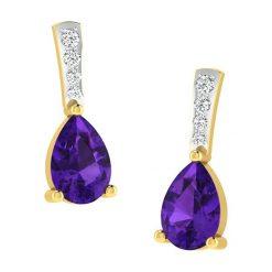 Kolczyki damskie: Złote kolczyki z diamentami i ozdobnymi kamieniami