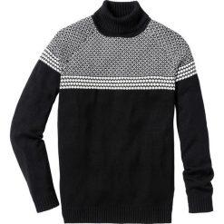Sweter z golfem Regular Fit bonprix czarny. Czarne golfy męskie marki bonprix, l. Za 49,99 zł.