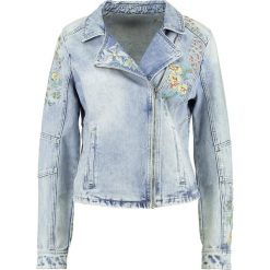 Bomberki damskie: Cream SIV FLOVER Kurtka jeansowa light blue denim