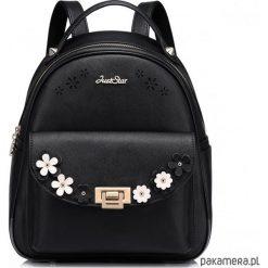 Plecaki damskie: Dziewczęcy plecak z wiosennej kolekcji Czarny