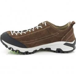 Skórzane buty turystyczne w kolorze brązowym. Brązowe buty trekkingowe męskie Kimberfeel, na sznurówki. W wyprzedaży za 295,95 zł.