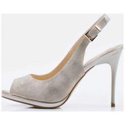 Buty ślubne damskie: Czółenka z odkrytą piętą