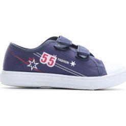 Granatowe Trampki Want You To Know. Niebieskie buty sportowe chłopięce Born2be, z materiału, młodzieżowe, z okrągłym noskiem. Za 29,99 zł.