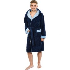 Szlafrok męski Jones. Niebieskie szlafroki męskie marki Astratex, z bawełny. Za 151,99 zł.