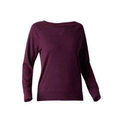 Koszulka Gym 500. Fioletowe bluzki sportowe damskie DOMYOS, l, z bawełny. Za 39,99 zł.