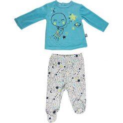 Spodnie niemowlęce: 2-częściowy zestaw w kolorze turkusowo-białym