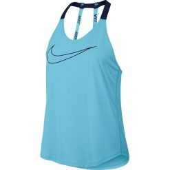 Bluzki damskie: Nike Koszulka damska BRTHE TANK Elastka niebieska r. XS (833766 432)