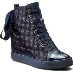 Sneakersy R.POLAŃSKI - 834 Granat 3D. Czarne sneakersy damskie marki R.Polański, ze skóry, na obcasie. W wyprzedaży za 299,00 zł.