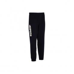 Spodnie dresowe do siatkówki V100. Czarne bryczesy damskie marki KIPSTA, l, z bawełny, na fitness i siłownię. Za 44,99 zł.