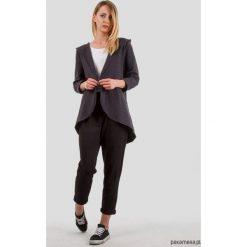 Bluzy damskie: Bluza z kapturem SOFTY LOOK fioletowy antracyt