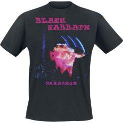 Black Sabbath Paranoid Tracklist T-Shirt czarny. Czarne t-shirty męskie Black Sabbath, xl, z nadrukiem, z dekoltem na plecach. Za 74,90 zł.