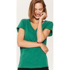 T-shirt basic - Zielony. Zielone t-shirty damskie marki House, l. Za 19,99 zł.
