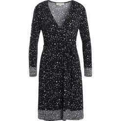 MICHAEL Michael Kors BORDER Sukienka z dżerseju black. Czarne sukienki z falbanami marki MICHAEL Michael Kors, xs, z dżerseju. W wyprzedaży za 614,25 zł.