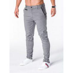 Spodnie męskie: SPODNIE MĘSKIE CHINO P646 – SZARE