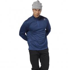 Bluza do biegania męska REEBOK US DOUBLE KNIT 1/4 BUNBLU / DH1934. Pomarańczowe bluzy męskie marki Reebok, z dzianiny, sportowe. Za 169,00 zł.