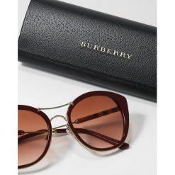 Burberry Okulary przeciwsłoneczne bordeaux. Czarne okulary przeciwsłoneczne damskie lenonki marki Burberry. Za 809,00 zł.