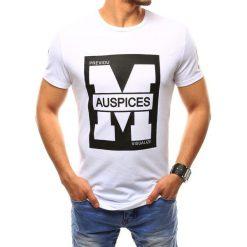 T-shirty męskie z nadrukiem: T-shirt męski z nadrukiem biały (rx2433)