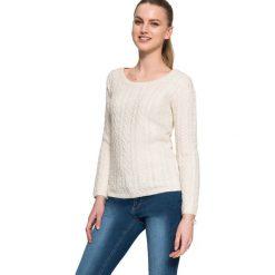 """Swetry klasyczne damskie: Sweter """"Remika"""" w kolorze beżowym"""