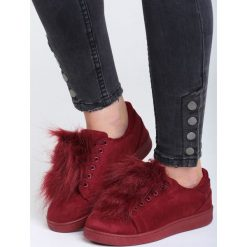 Bordowe Buty Sportowe Mr Hairy. Czerwone buty sportowe damskie Born2be, z materiału. Za 49,99 zł.