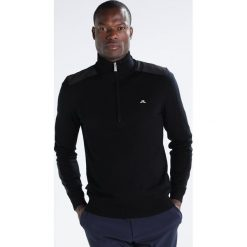 Swetry klasyczne męskie: J.LINDEBERG Sweter black