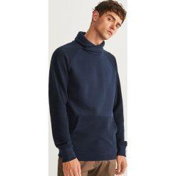 Bluza kangurka z kołnierzem - Granatowy. Niebieskie bluzy męskie rozpinane marki QUECHUA, m, z elastanu. Za 99,99 zł.