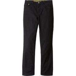 Spodnie twillowe Slim Fit bonprix czarny. Czarne spodnie chłopięce marki bonprix, w paski, z dresówki. Za 49,99 zł.