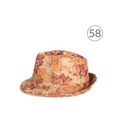Kapelusze damskie: Art of Polo Kapelusz damski Kwietny styl brązowy r. 58