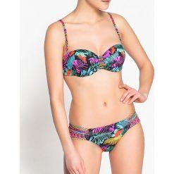 Bikini: Dwuczęściowy kostium kąpielowy z nadrukiem - góra o kroju opaski